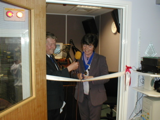 June Snowden opening new Radio Redhill studio